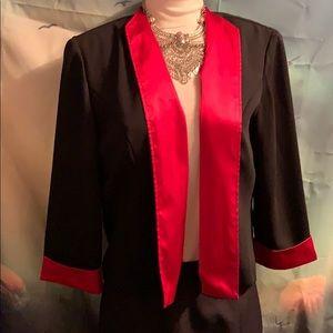 Dressbarn size 14 unstructured jacket blk pink